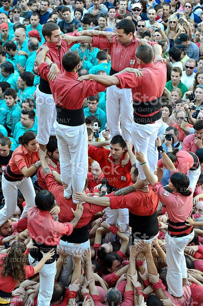 Castellers de Barcelona royalty-free stock photo