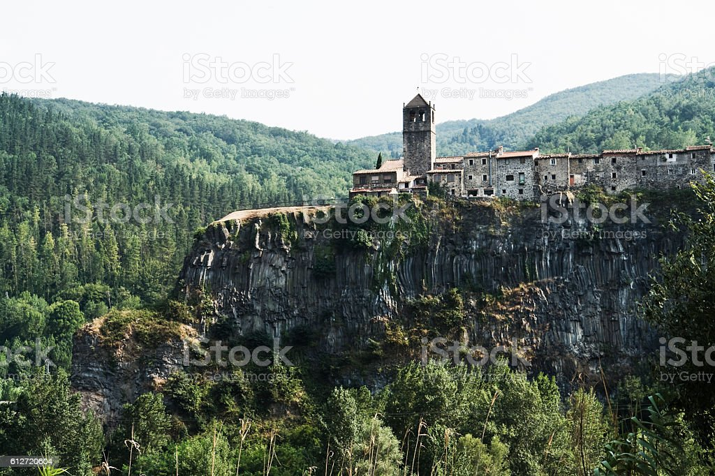 Castellfollit de la Roca Girona Catalonia Spain stock photo