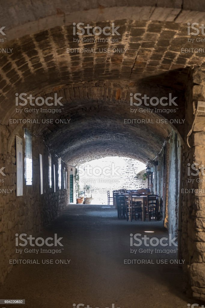 Castellina in Chianti, medieval town of Tuscany stock photo