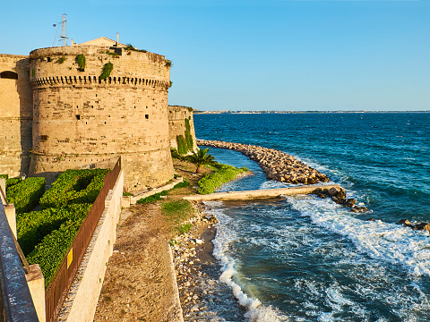 Castello Aragonese Castle Of Taranto Apulia Italy Stock ...