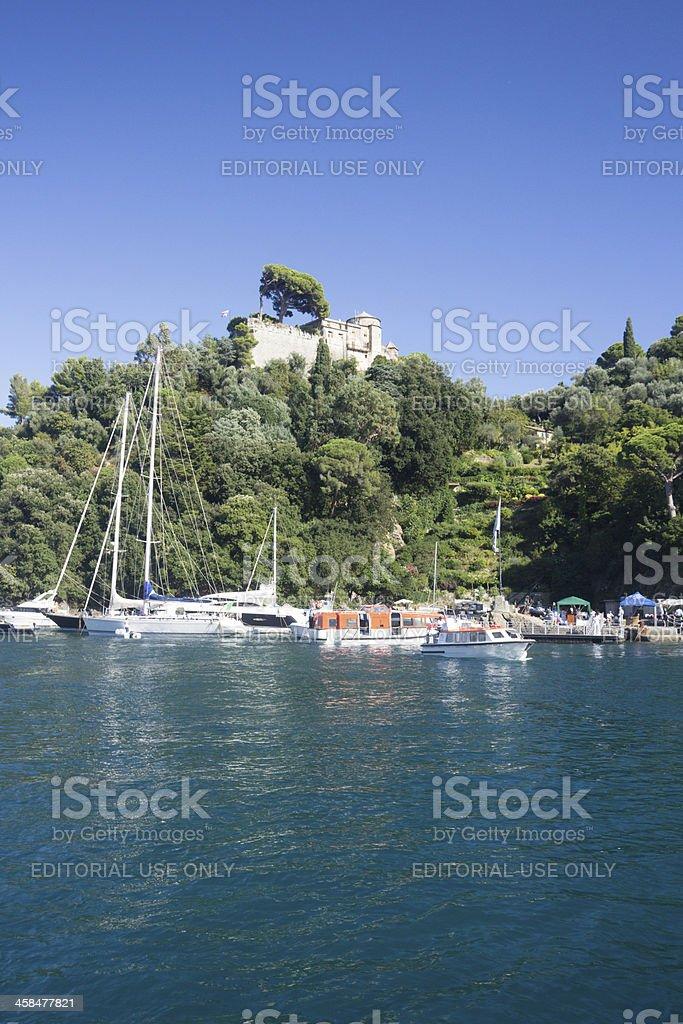 Castello Brown in Portofino, Italy royalty-free stock photo