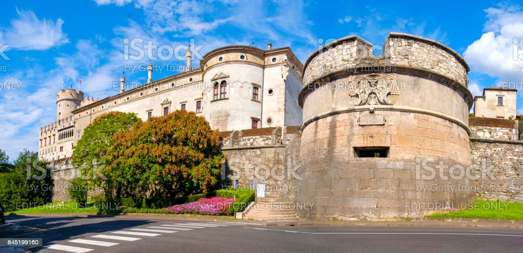 Castello del Buonconsiglio ( Buonconsiglio Castle ) in Trento - Trentino Alto Adige - Italy stock photo