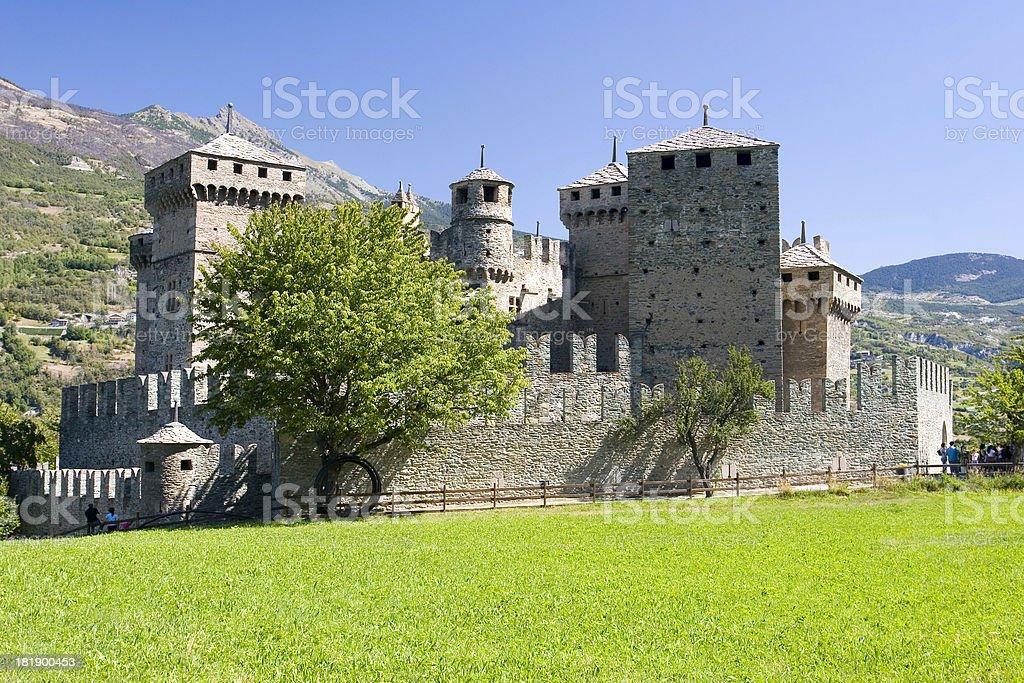 Castello di Fenis stock photo