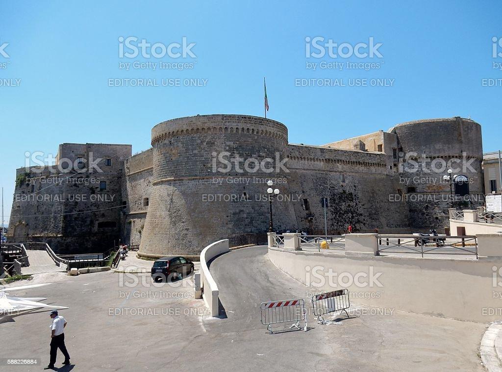 Castello di Gallipoli stock photo