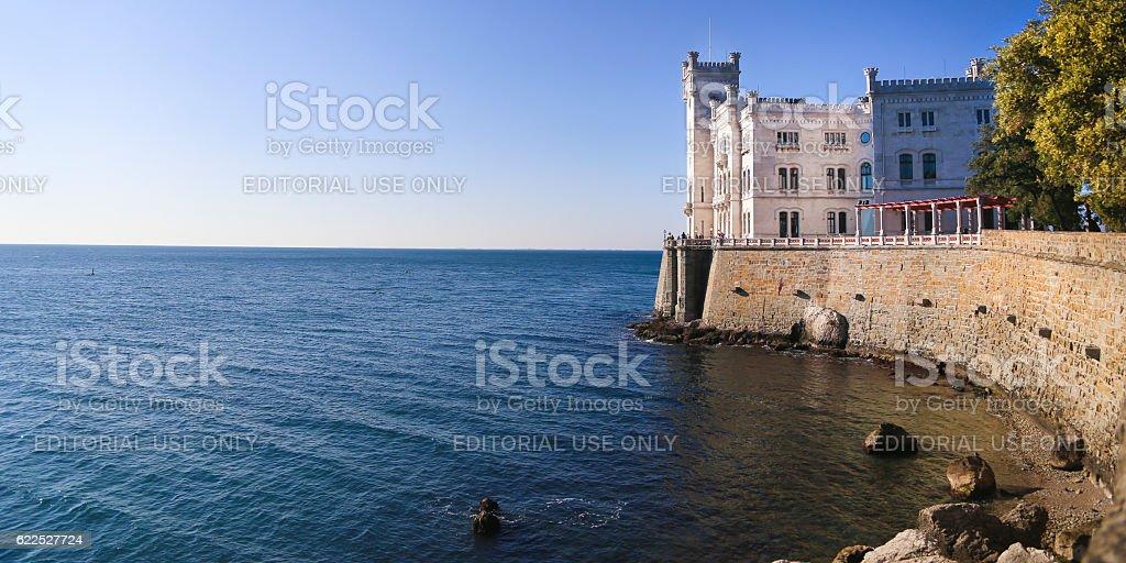 Castello di Miramare Trieste stock photo