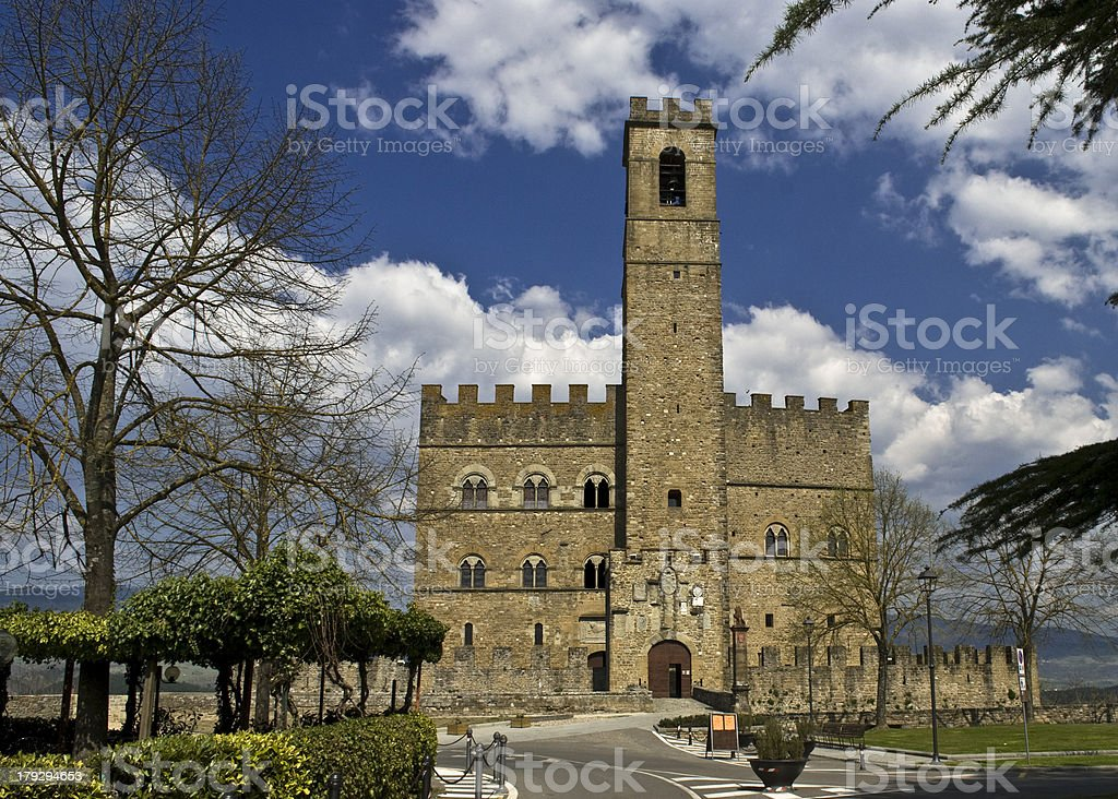 Castello di Poppi stock photo