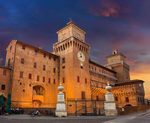 Castello Estense in Ferrara stock photo