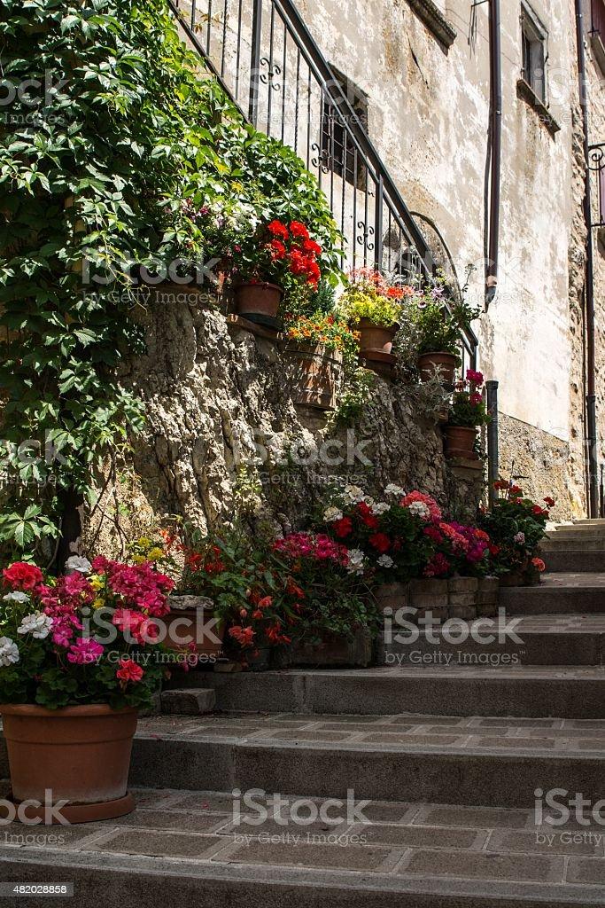 Castelluccio di Norcia, Italy stock photo