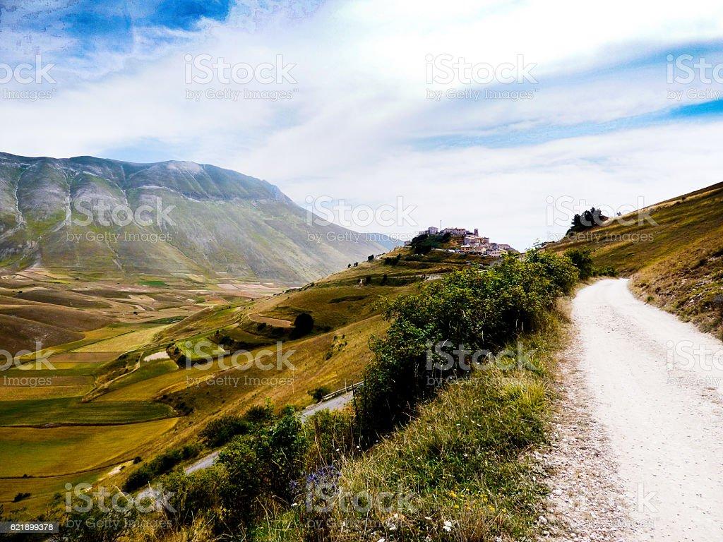 Castelluccio of Norcia stock photo