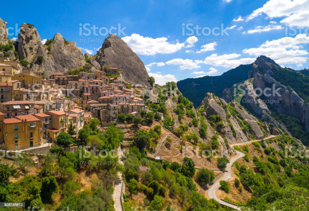 Castelmezzano (Basilicata, Italy) - foto stock