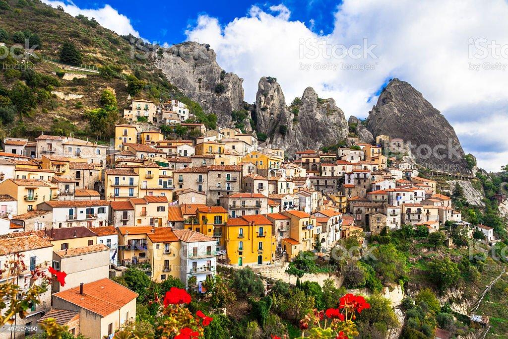 Castelmezzano,Basilicata, Italy stock photo