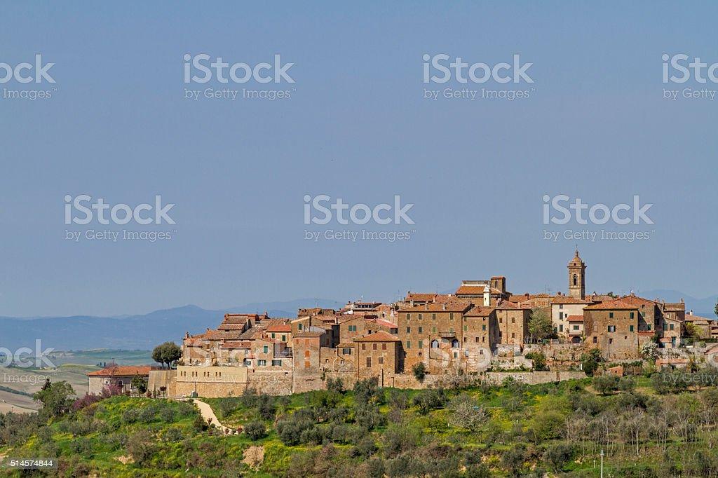 Castelmuzio in Tuscany stock photo