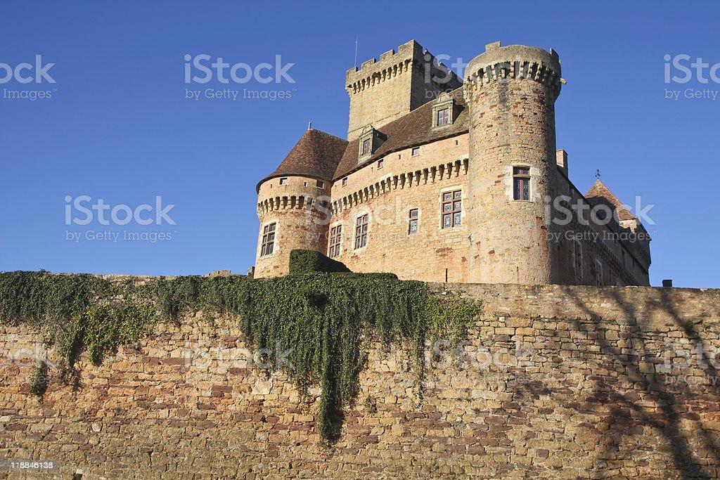 castelnau castle stock photo