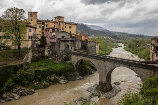 Castelnuovo di Garfagnana in Toscany, italy stock photo