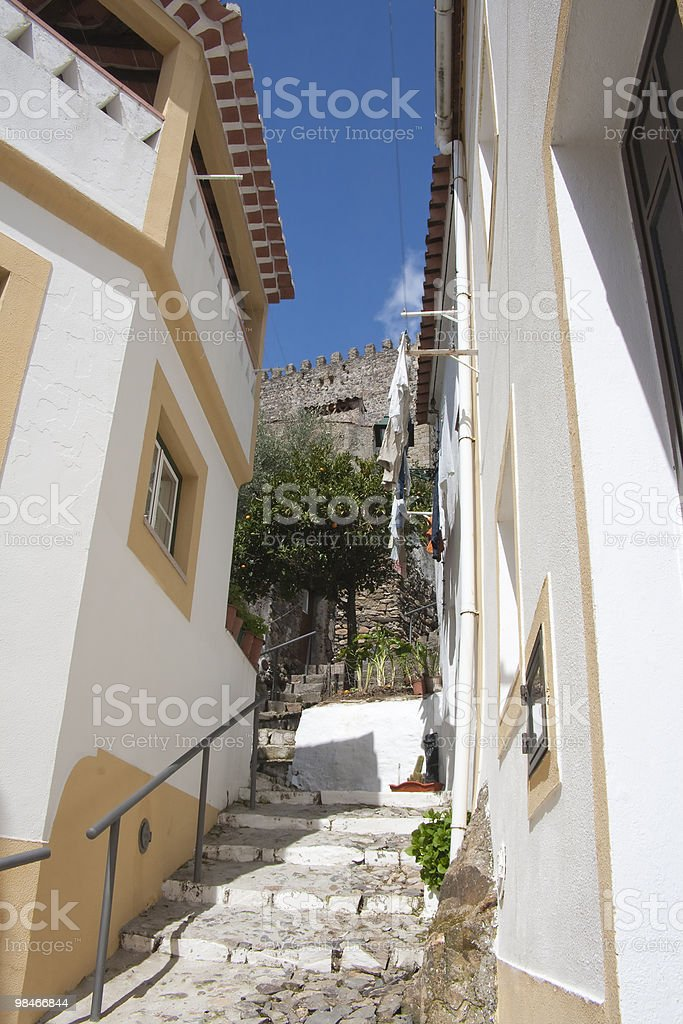Castelo de Vide steps royalty-free stock photo