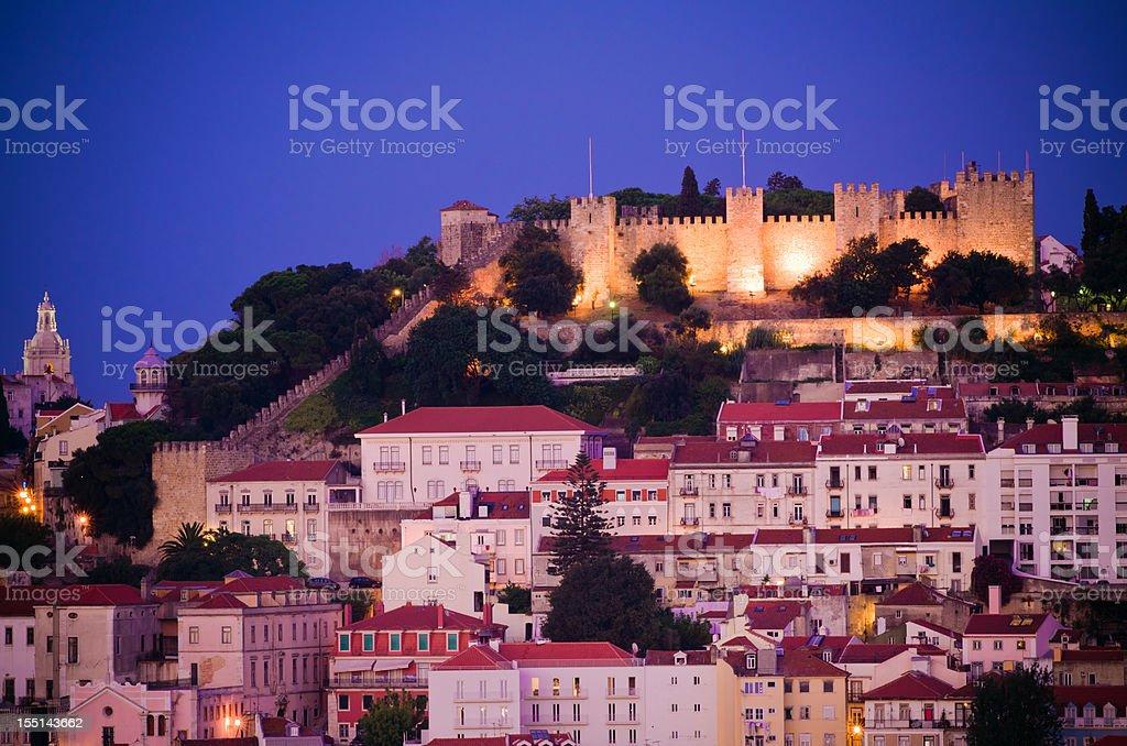 Castelo Sao Jorge in Lisbon, Portugal stock photo