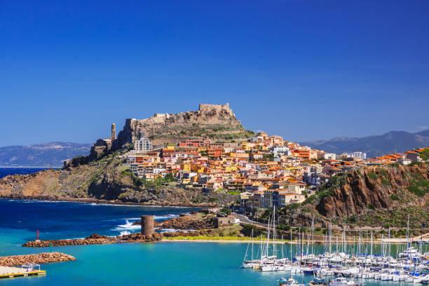 castelsardo, sardinia island, italy - sardegna foto e immagini stock