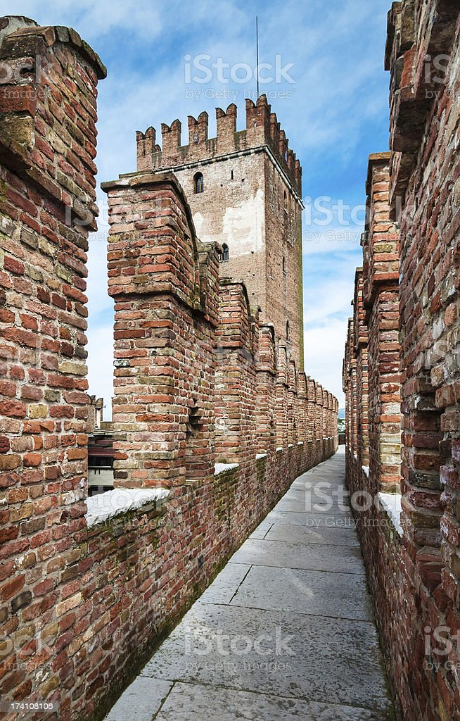Castelvecchio in Verona, Italy stock photo