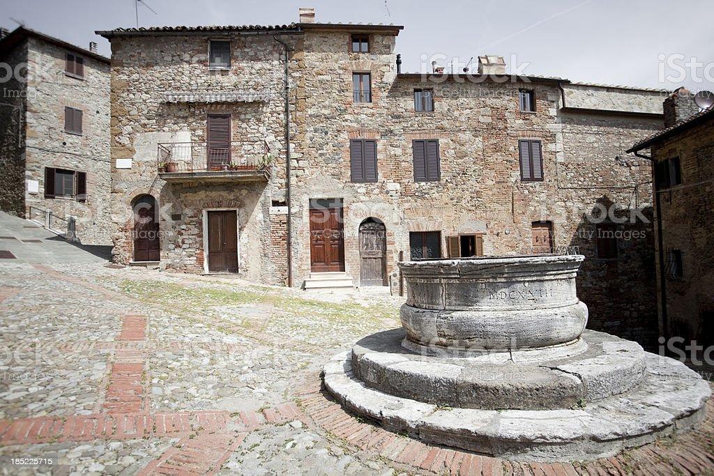 Castiglione d'Orcia Tuscany royalty-free stock photo