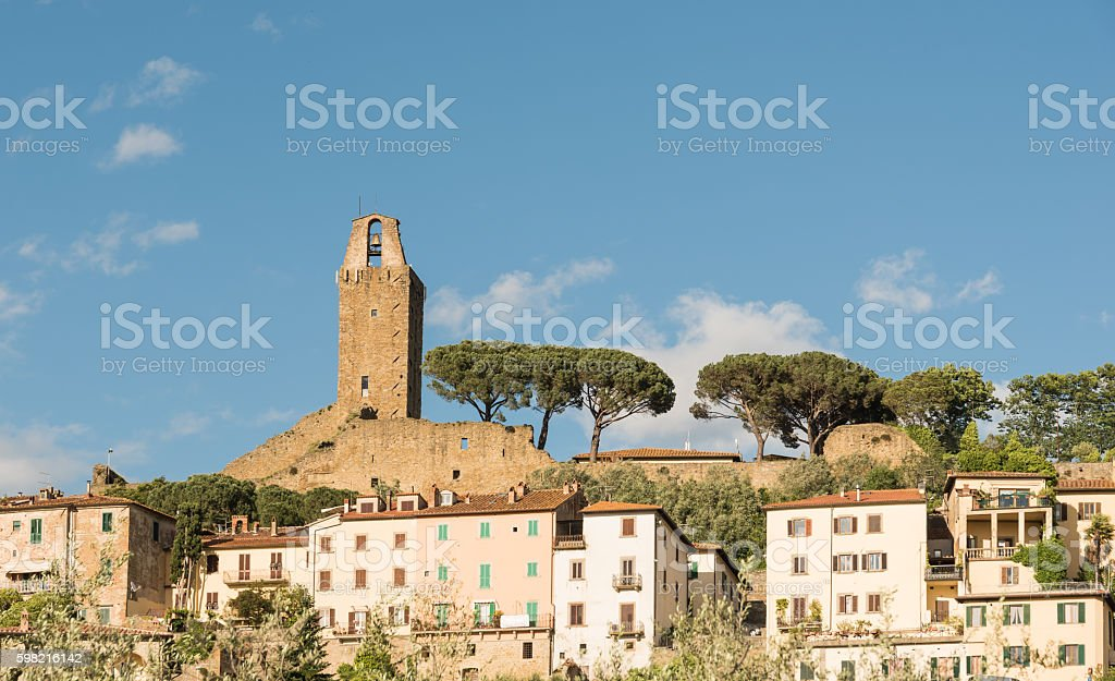 Castiglione Fiorentino Tuscany stock photo