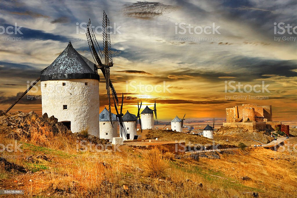 Castilla,la mancha,Spain stock photo
