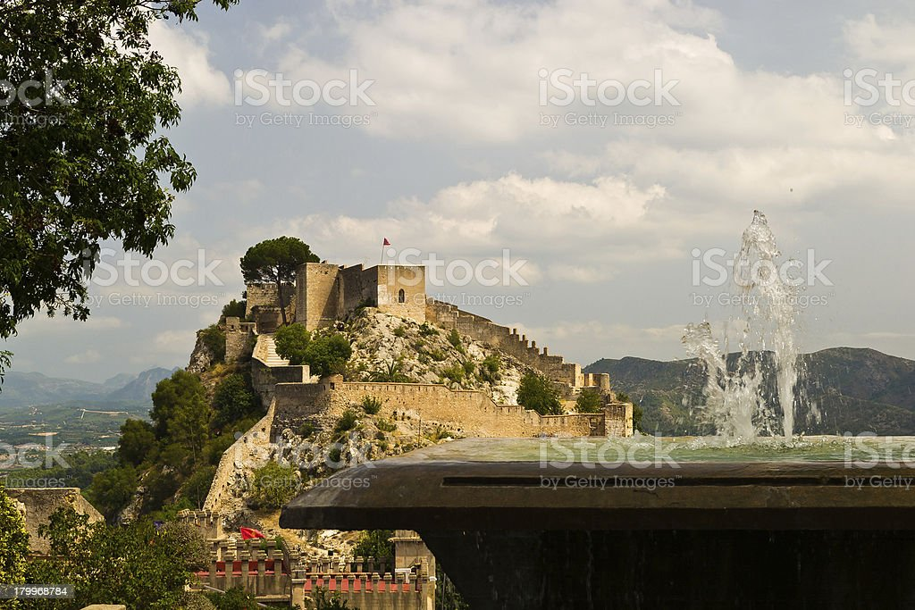 Castillo de Játiva royalty-free stock photo