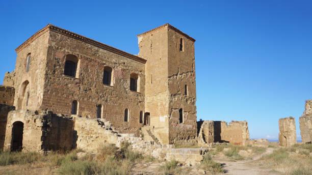 Castillo de Montearagon 3 stock photo