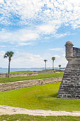 Castillo de San Marcos - St. Mark's Castle National Monument, is the oldest masonry fort in the continental USA; it is located on the western shore of Matanzas Bay in the city of St. Augustine, Florida. The Castle was designed by the Spanish engineer Ignacio Daza, with construction beginning in 1672, 107 years after the city's founding by Spanish Admiral and conquistador Pedro Menéndez de Avilés, when Florida was part of the Spanish Empire.\n\nSt. Augustine is 5 hours driving faraway from Miami, and one hour driving from Orlando, Florida.