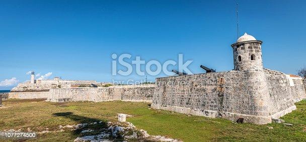 Castillo de San Salvador 16th Century castle in Havana. Taken from the Malecon road passing.