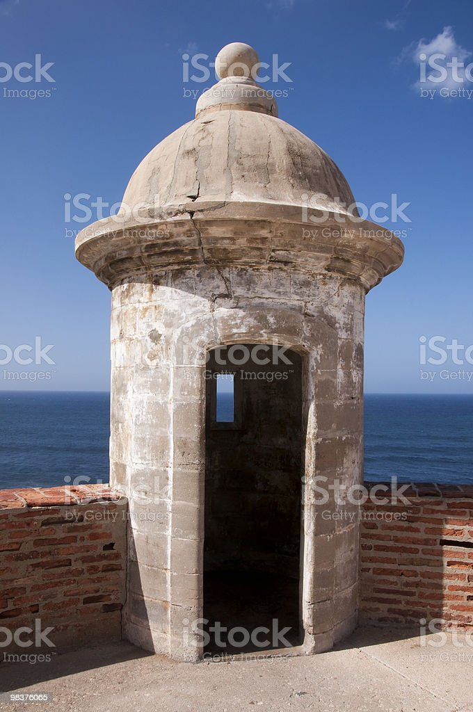 Castillo do San Cristobal Sentry Box (Guerites) royalty-free stock photo