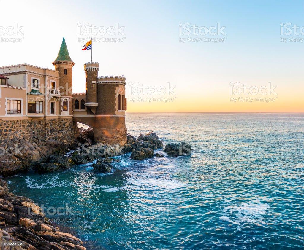 Castillo Wulff in Vina del Mar, Chile stock photo