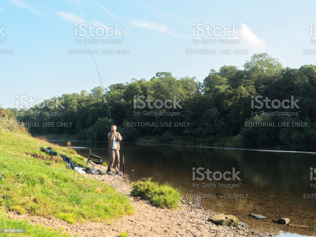 Casting a line stock photo
