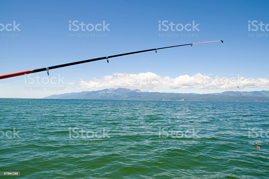 casting a line royalty-free stock photo