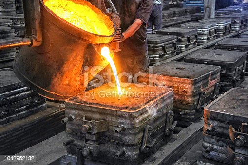 Casting and foundry. Casting is the process from which solid metal shapes (castings) are produced by filling voids in molds with liquid metal.  Patternmaking is the process for producing these patterns.