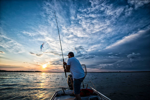 casting - fishing stock pictures, royalty-free photos & images
