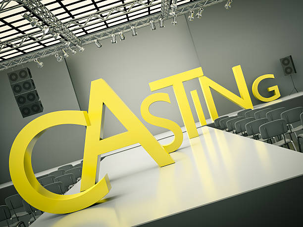 casting stage abstract concept - audition stock photos and pictures