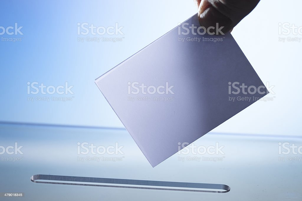 casting vote or posting letter royalty-free stock photo