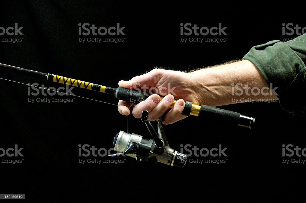 Casting With Spinning Reel royalty-free stock photo