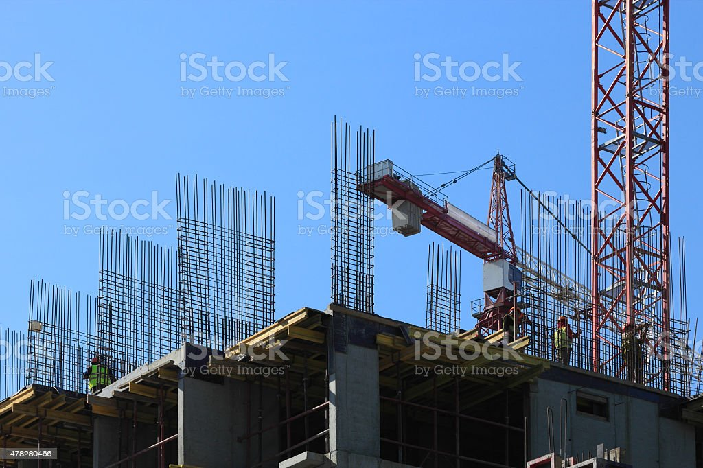 cast-in-place construction stock photo