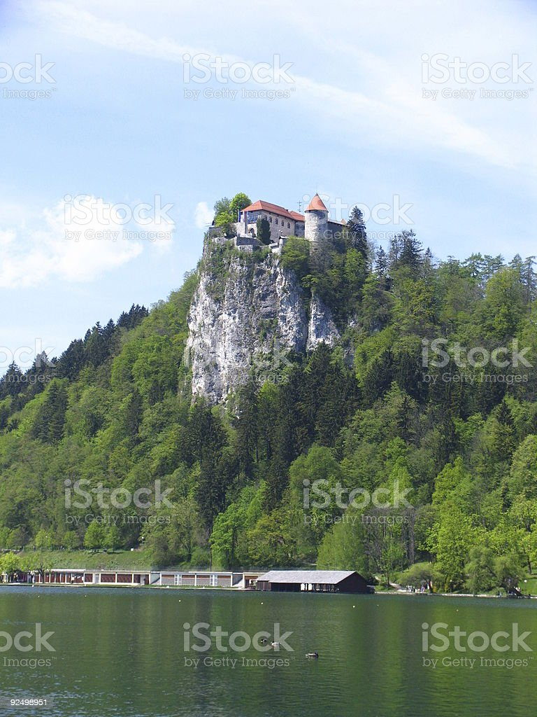 Castle above the lake royalty-free stock photo