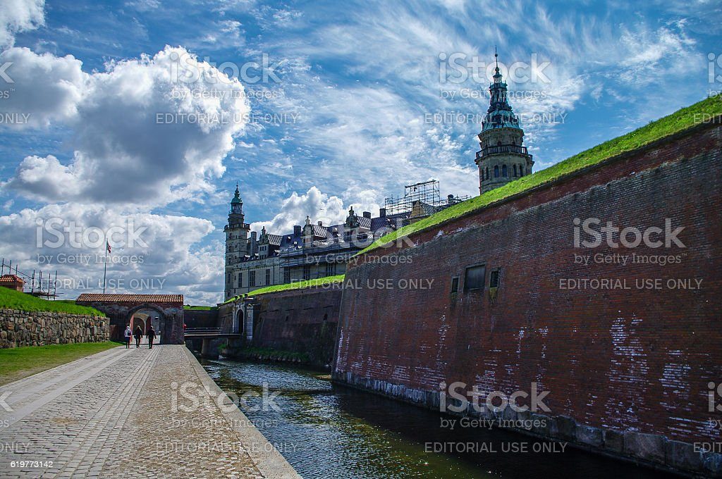 Castle and fortoress of Kronborg, home of Shakespeare's Hamlet. stock photo