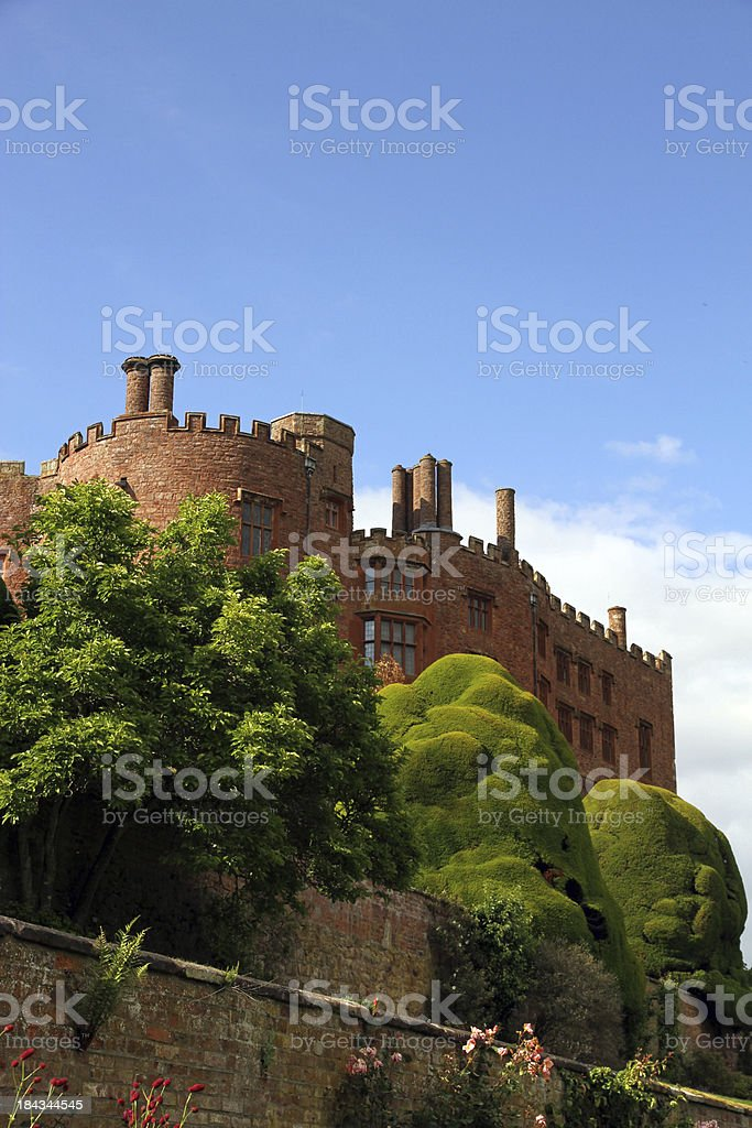 Castle and Sky stock photo