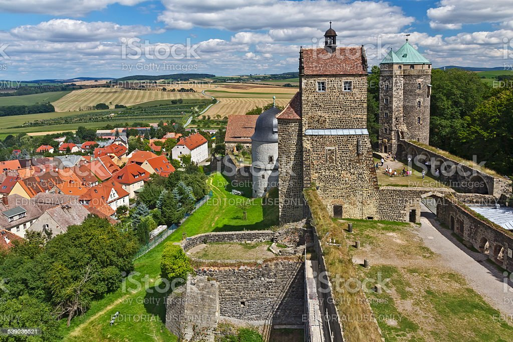 Castle and Town Stolpen, Germany royalty-free stock photo