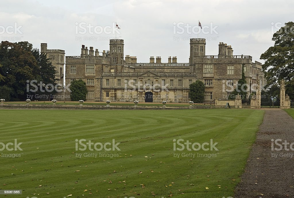Castle Ashby stock photo