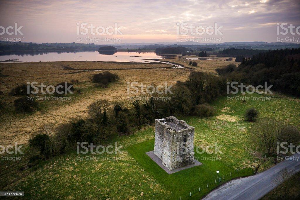 Castle at Blessington Lakes stock photo