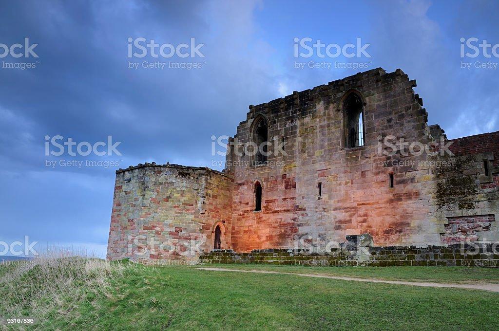 Castle at dusk stock photo