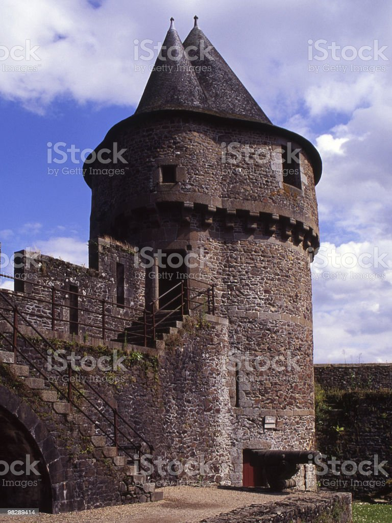 Castle at Fougiers. France royalty-free stock photo