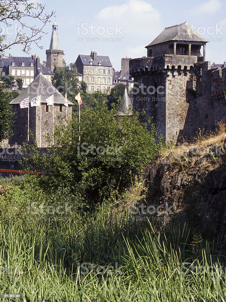 Castle at Fourgeres. Normandy. France royalty-free stock photo