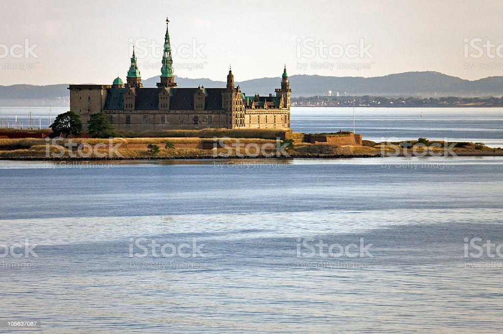 Castle at morning stock photo
