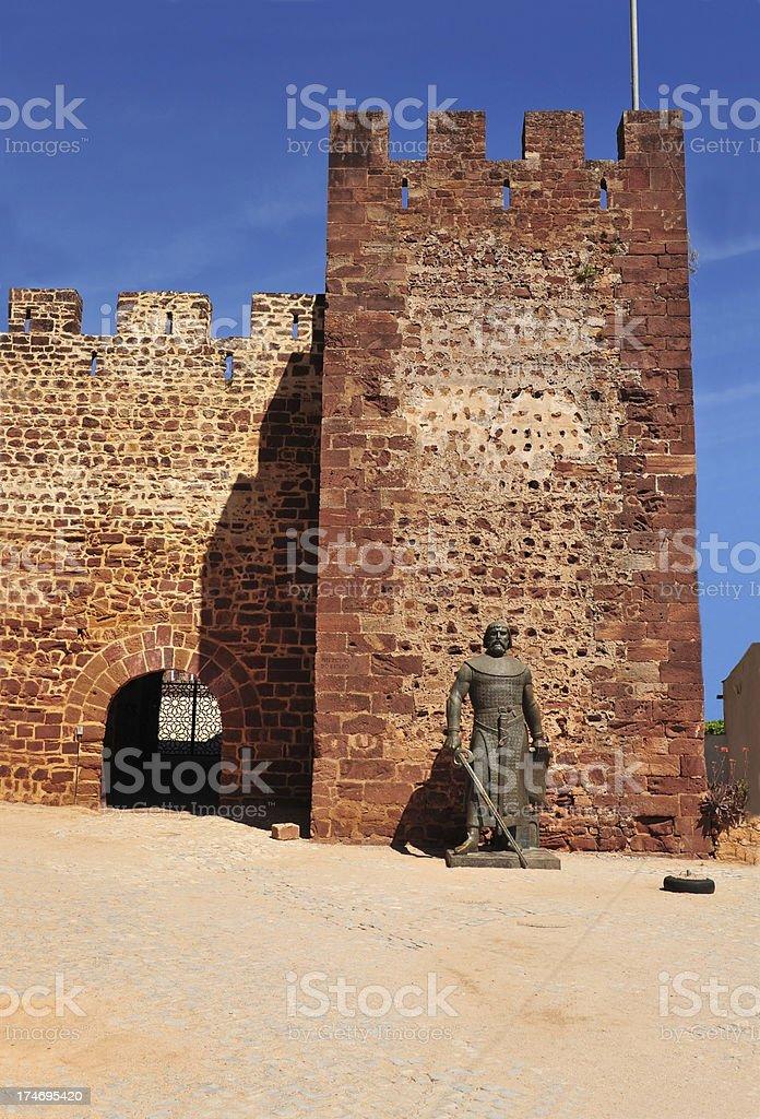 Castle at Silves, Algarve, Portugal stock photo